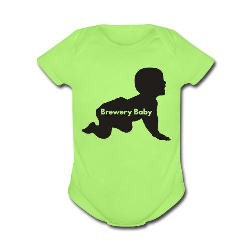 Green Brewery Baby - Organic Short Sleeve Baby Bodysuit