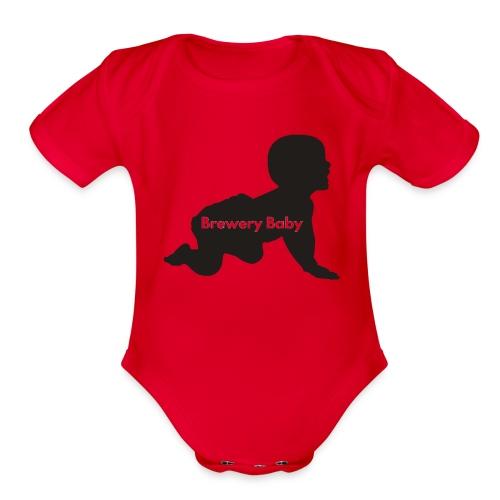 Pink Brewery Baby - Organic Short Sleeve Baby Bodysuit