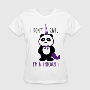 I don't care i'm a unicorn,funny t-shirt - Women's T-Shirt