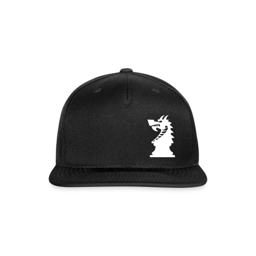 DA Hat Mark Offset Black - Snap-back Baseball Cap