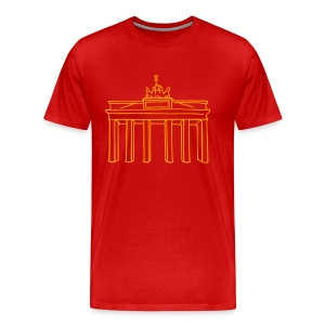 Brandenburg Gate in Berlin (neon) - Men's Premium T-Shirt