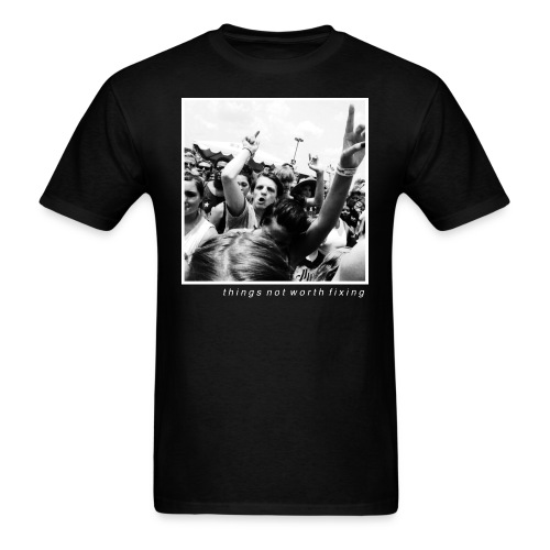 Josh Pointing (Black) - Men's T-Shirt