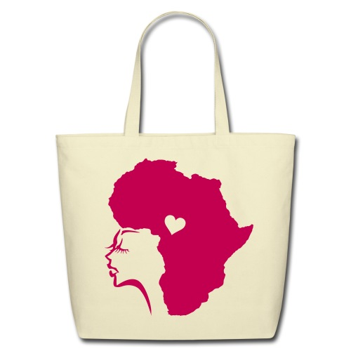 African Woman Hair Love - Eco-Friendly Cotton Tote