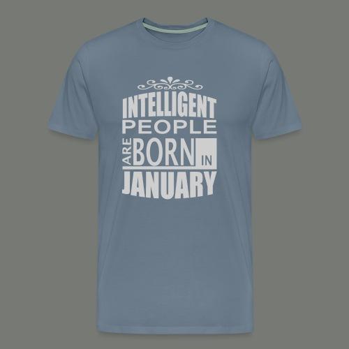 born in januari. T-Shirts - Men's Premium T-Shirt
