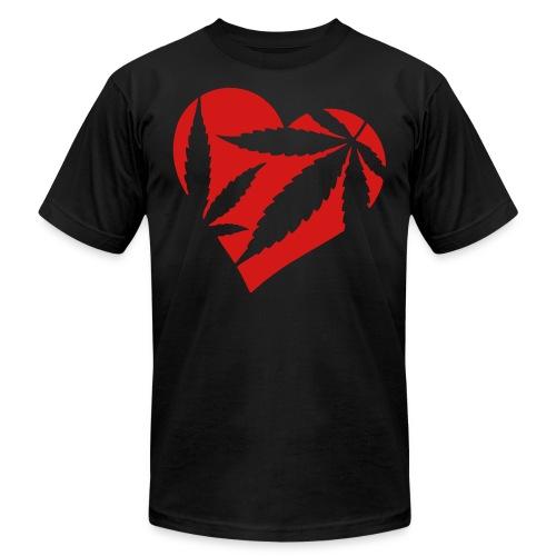 Marijuana Heart - Men's Fine Jersey T-Shirt