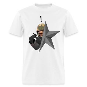 Kolibri Service Star (WHITE SHIRT) - Men's T-Shirt