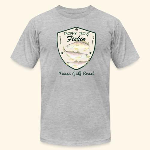 Hookat Trophy Speckled Trout - Men's Fine Jersey T-Shirt