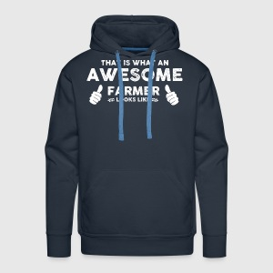 Farmer Awesome farmer Men's Long Sleeve - Men's Premium Hoodie