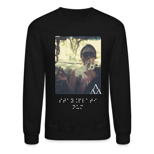 Stay Platinum Smoking Crewneck in Black - Crewneck Sweatshirt
