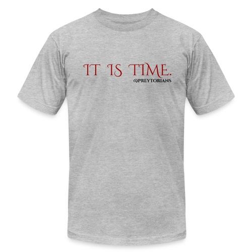 Preytorians - It Is Time Men's T (Grey) - Men's Fine Jersey T-Shirt