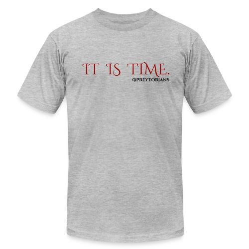 Preytorians - It Is Time Men's T (Grey) - Men's Fine Jersey T-Shirt