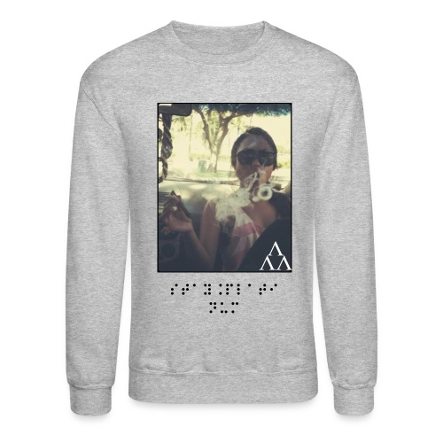 Stay Platinum Smoking Crewneck in Gray - Crewneck Sweatshirt