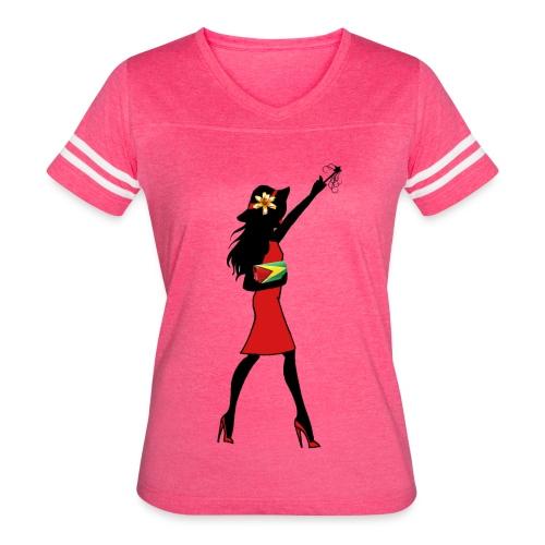 Guyana Girl T-Shirt - Women's Vintage Sport T-Shirt