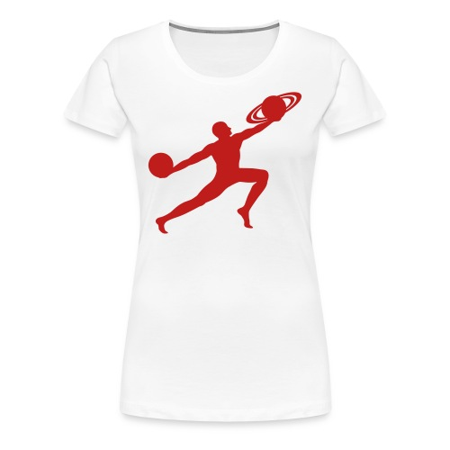 Red Sparkle Glitter Print for women's T-shirt  - Women's Premium T-Shirt