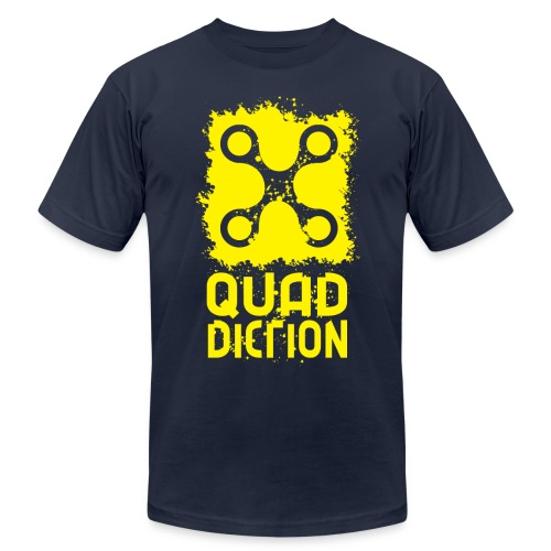 Quaddiction Stamp - Men's Fine Jersey T-Shirt