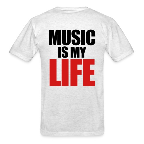 Music is my life shirt  - Men's T-Shirt