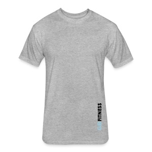 Clean Tee - Gray - Fitted Cotton/Poly T-Shirt by Next Level