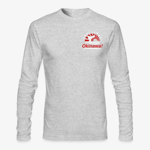Men's Long Sleeve T-Shirt by Next Level - Uechi,Training,Shotokan,Shorin,Shito,Ryukyu,Ryu,Okinawa,Matsubayashi,Martial,MMA,Life,Kyokushin,Kumite,Kobudo,Kobayashi,Kata,Karate,Japan,Goju,Fight,Dojo,Do,Challenge,Arts