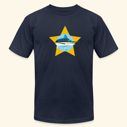 Hookat Marlin Star - Men's Fine Jersey T-Shirt
