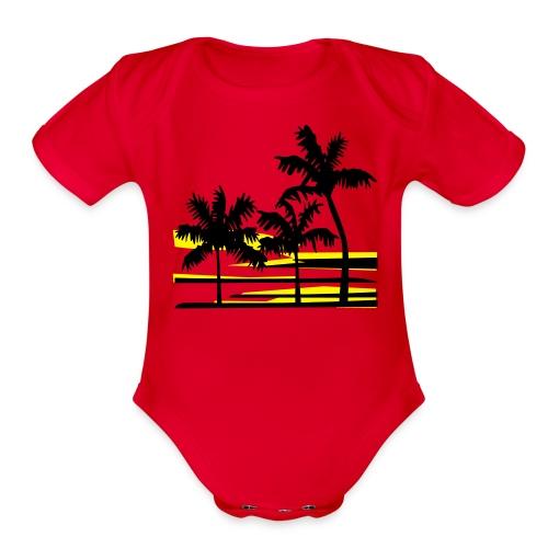 Dreamin' of Califormia Baby - Organic Short Sleeve Baby Bodysuit