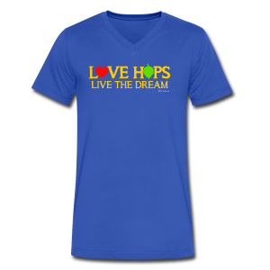 Love Hops Live The Dream Men's V-Neck T-Shirt - Men's V-Neck T-Shirt by Canvas