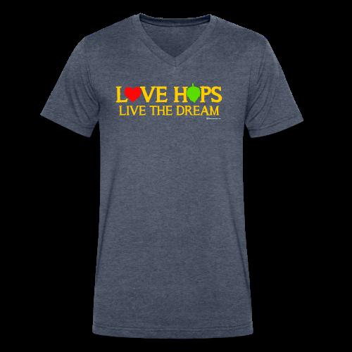 Love Hops Live The Dream Men's V-Neck T-Shirt - Men's V-Neck T-Shirt by Canvas