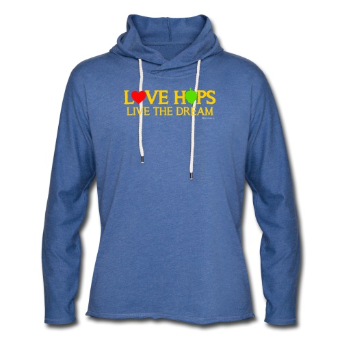 Love Hops Live The Dream Unisex Lightweight Terry Hoodie - Unisex Lightweight Terry Hoodie