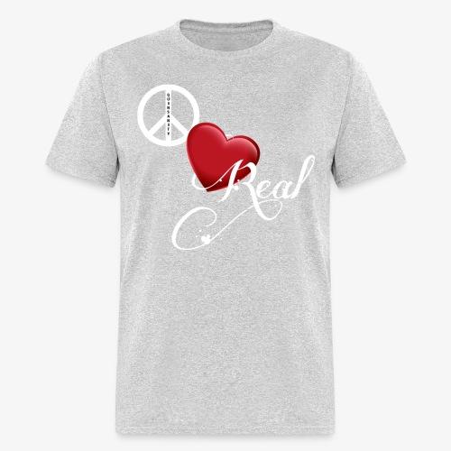 PeaceLoveReal-Quinsanity - Men's T-Shirt