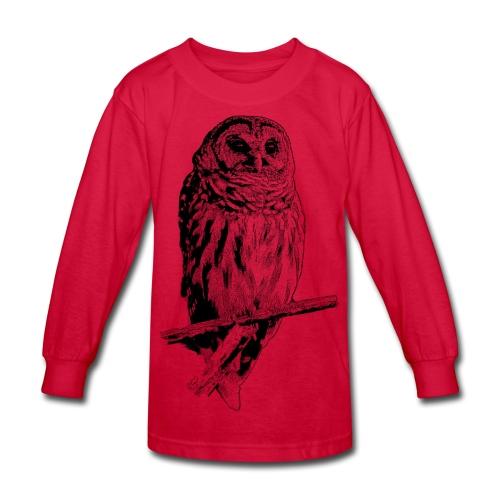 Barred Owl - 4768 - Kids' Long Sleeve T-Shirt