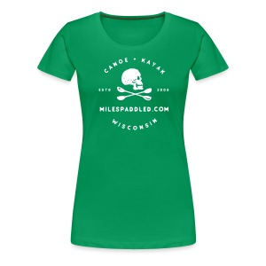 Miles Paddled Badge - Women's - Women's Premium T-Shirt
