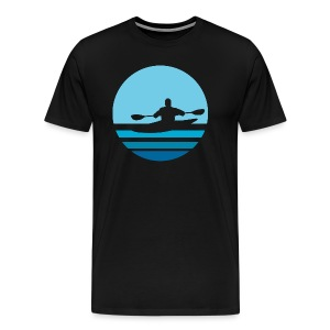 Retro Kayak Moon - Men's - Men's Premium T-Shirt