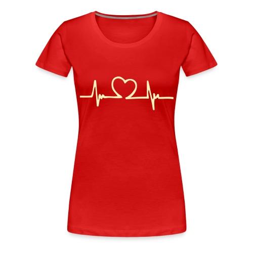 Loves heartbeat - Women's Premium T-Shirt