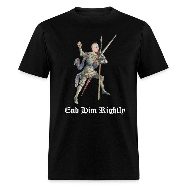 """End Him Rightly"" black t-shirt"