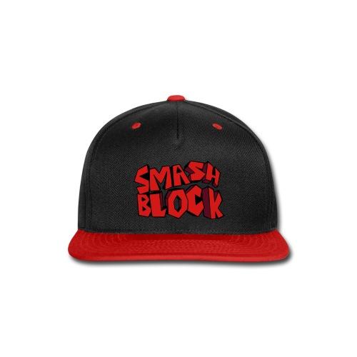 Smash Block Black/Red Snap-back  - Snap-back Baseball Cap