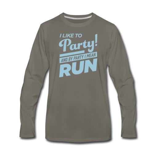 100% Cotton Runner Party Long Sleeve - Men's Premium Long Sleeve T-Shirt