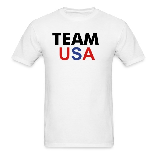 TEAM USA Mens Tee with Name On Back Olympic - Men's T-Shirt