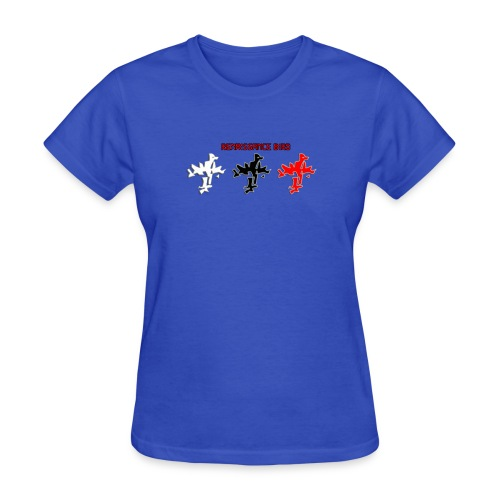 Renaissance Bird logo tri tone ladies blue T-shirt - Women's T-Shirt