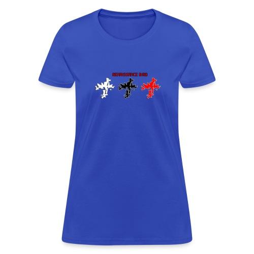Renaissance Bird logo tri tone ladies blue T-shirt - Women's T-Shirt