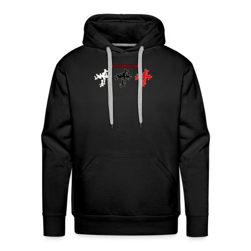Renaissance Bird logo tri tone men's black hoodie - Men's Premium Hoodie