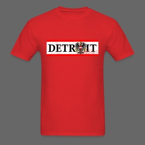 Detroit Austrian Flag - Men's T-Shirt