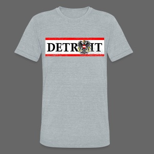 Detroit Austrian Flag - Unisex Tri-Blend T-Shirt by American Apparel