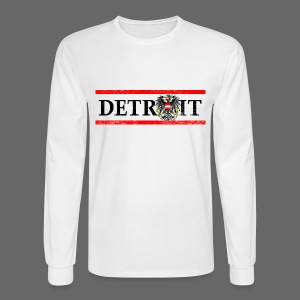 Detroit Austrian Flag - Men's Long Sleeve T-Shirt