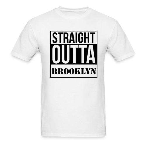 straight out of brooklyn - Men's T-Shirt