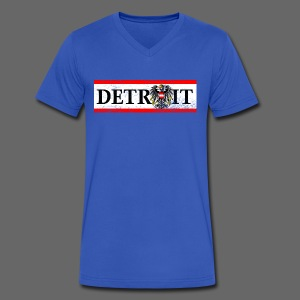 Detroit Austrian Flag - Men's V-Neck T-Shirt by Canvas