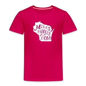 Miles Paddled Wisconsin - Toddler - Toddler Premium T-Shirt