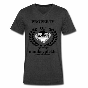 Men's V-Neck - Property of Monkey Pickles - Men's V-Neck T-Shirt by Canvas