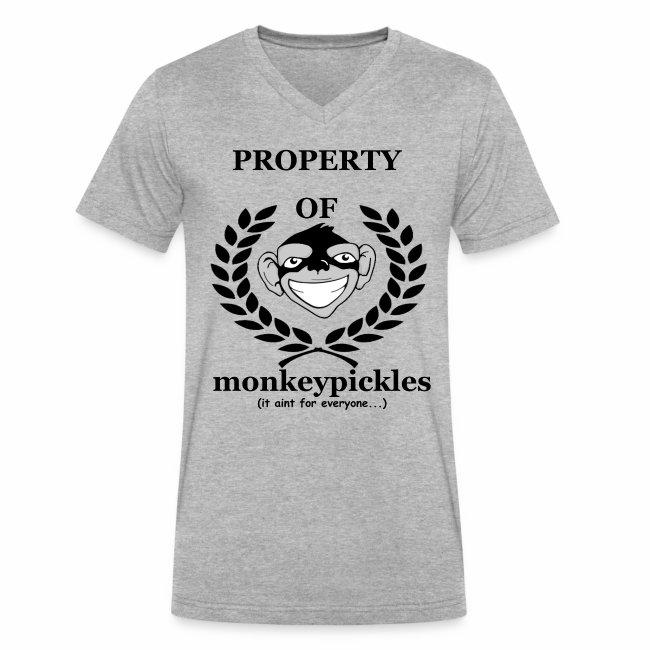 Men's V-Neck - Property of Monkey Pickles