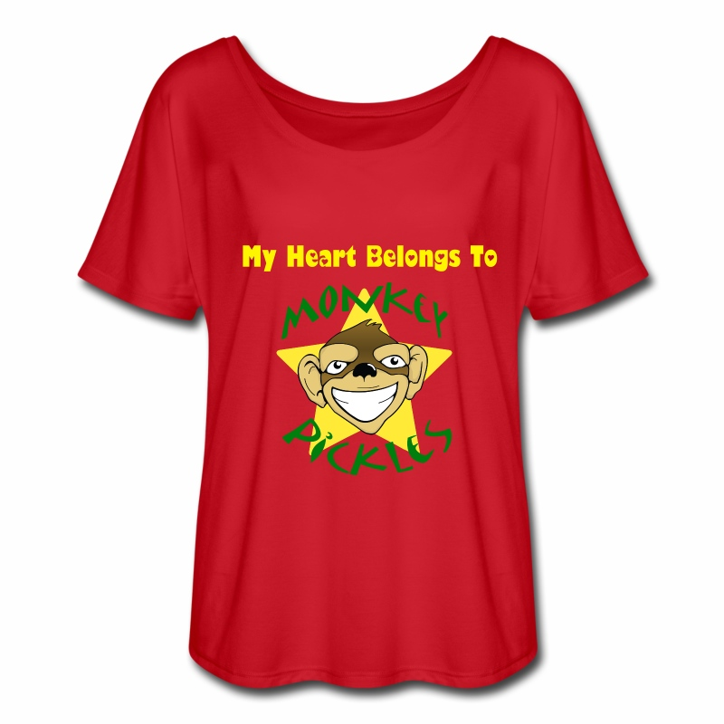 Flowy Women's Shirt - My Heart Belongs To Monkey Pickles - Women's Flowy T-Shirt