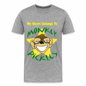 My Heart Belongs To Monkey Pickles Shirt - Men's Premium T-Shirt