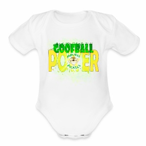Monkey Pickles Baby    - Goofball Power - Short Sleeve Baby Bodysuit